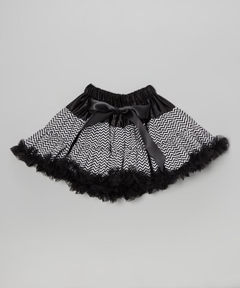 Black Zigzag Pettiskirt - Infant, Toddler & Girls