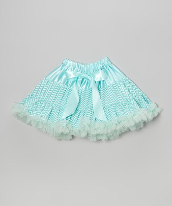 Aqua Zigzag Pettiskirt - Infant, Toddler & Girls