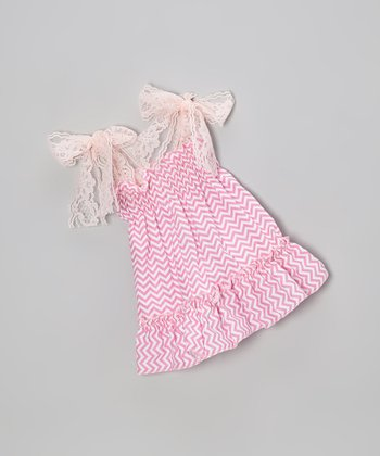 Pink Zigzag Doll Dress
