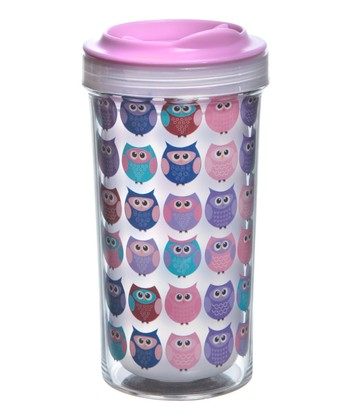 Pink 10-Oz. Owl Tumbler - Set of Two