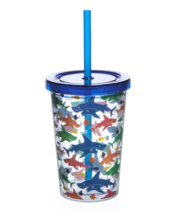 Blue 10-Oz. Shark Tumbler - Set of Two