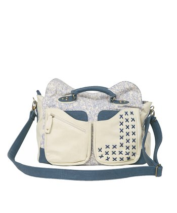 Denim Blue Hydrangea Diaper Bag