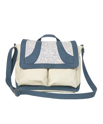Denim Blue Ginger Diaper Bag