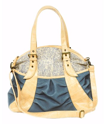 Denim Blue Gladiola Diaper Bag
