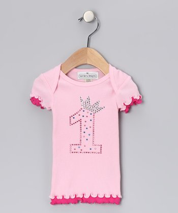 Pink Sparkle '1' Birthday Top - Infant