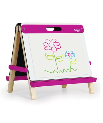 Fuchsia Tabletop Art Easel