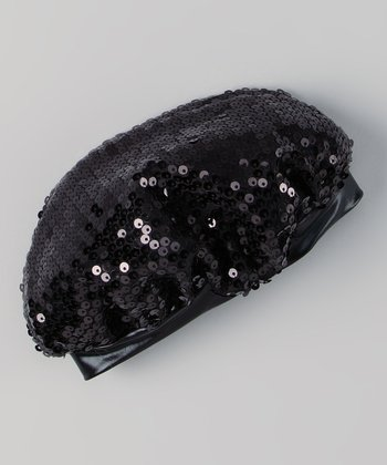 Black Sequin Hat