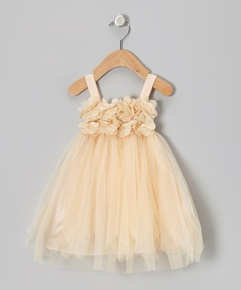 Peach Princess Petal Dress - Toddler & Girls