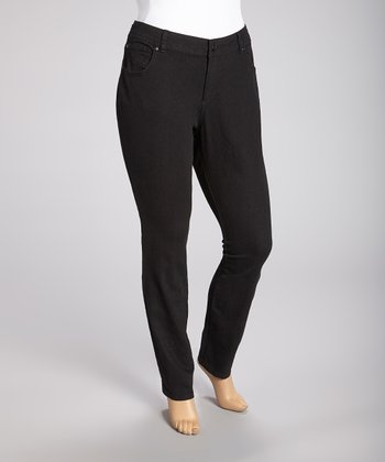 Black Bootcut Pants - Plus