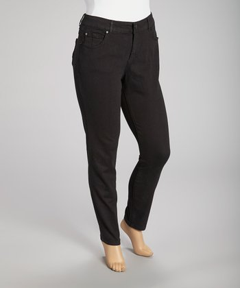 Black Denim Jeans - Plus
