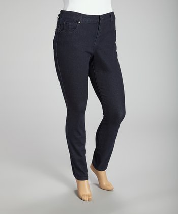 Dark Blue Denim Jeans - Plus