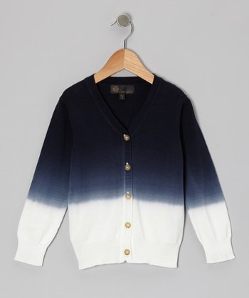 Navy Dip-Dye Cardigan - Infant, Toddler & Boys