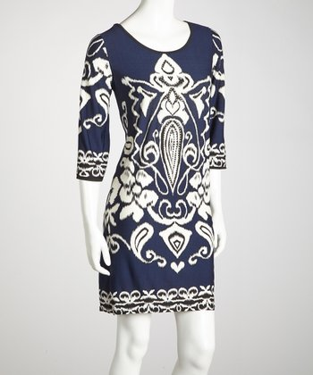 Navy Embellished Dress