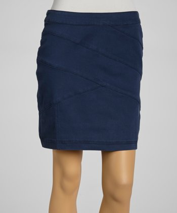 Night Blue Office Skirt
