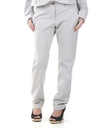 Stone Gray Kelly Slim Pants - Women & Plus