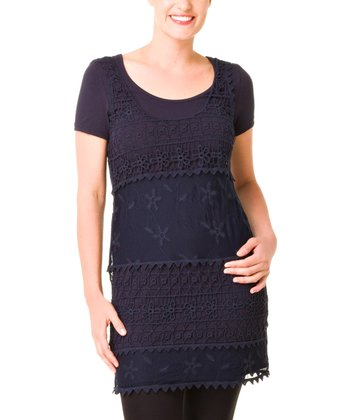 Dark Blue Ilayra Tunic - Women & Plus