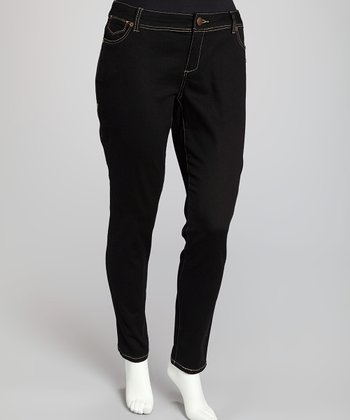 Black Tribeca Signature Skinny Jeans - Plus