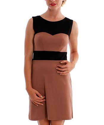 Taupe & Black Amaretto Dress