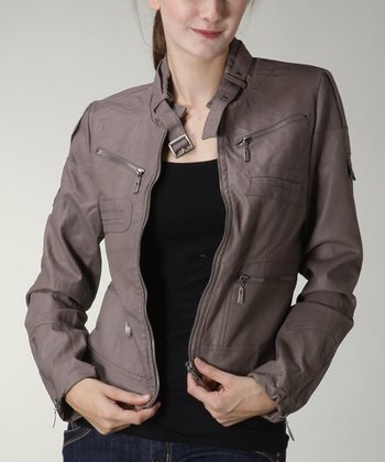 Mocha Zipper Pocket Jacket
