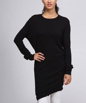 Black Asymmetrical Dolman Tunic