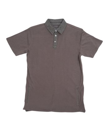 Dark Gray Pistol Pet Polo - Boys