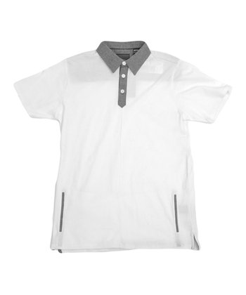 White Pistol Pet Polo - Boys