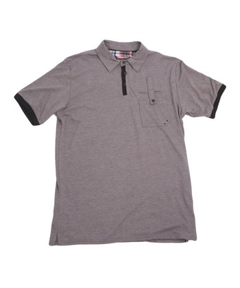 Heather Dark Gray Foreman Polo - Boys