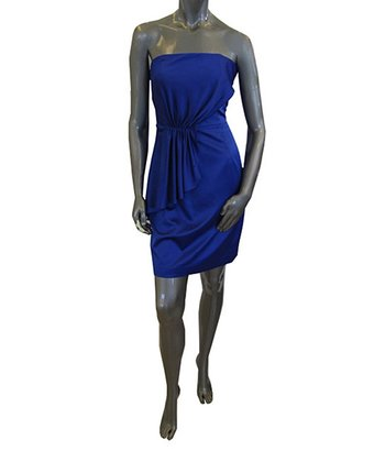 Cobalt Strapless Dress