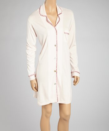 Petal Pink Satin Accent Sleepshirt - Women