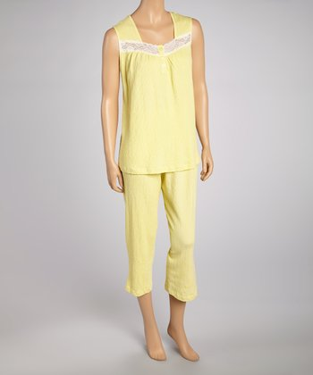 Lemonade Gauze Capri Pajama Set - Women & Plus