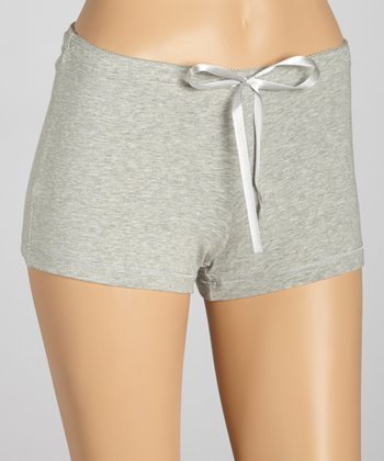 Heather Gray Boxers - Women