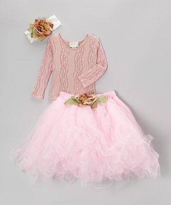 Pink Lace Tutu Set - Infant, Toddler & Girls