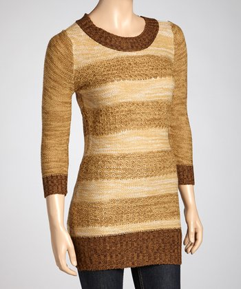Camel Stripe Sweater