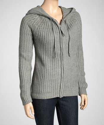 Heather Gray Zipper Hoodie