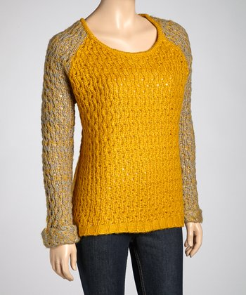 Mustard & Charcoal Raglan Sweater
