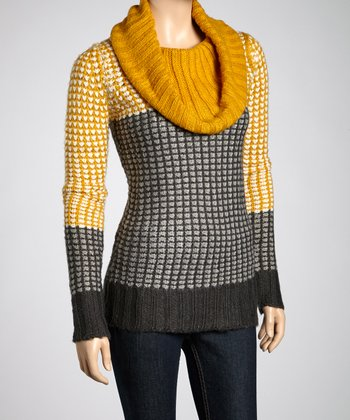 Charcoal Cowl Neck Sweater