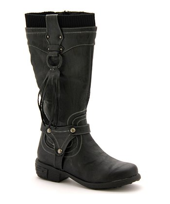 Black Heather Boot