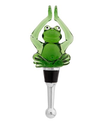 Lotus Yoga Frog Bottle Stopper