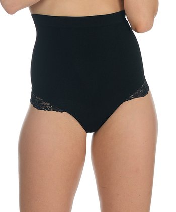 Black Lace Trim Shaper Thong