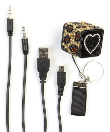 Brown Leopard Mini Speaker Set