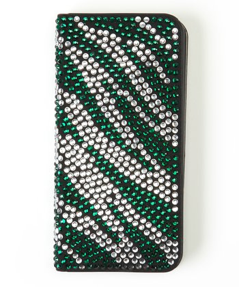 Green Zebra Flip-Open Case for iPhone 5