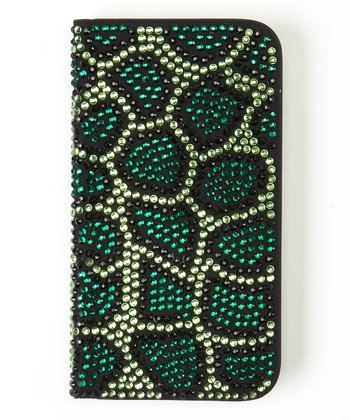 Green Python Flip-Open Case for Samsung Galaxy S4