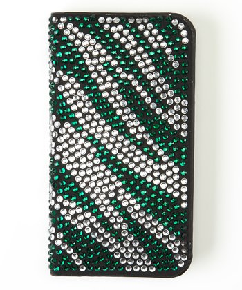 Green Zebra Flip-Open Case for iPhone 4/4S