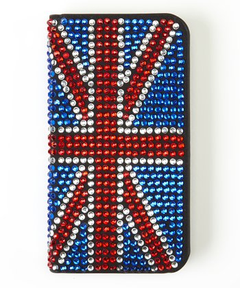 Blue Union Jack Flip-Open Case for iPhone 4/4S