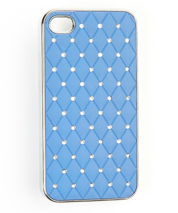 Blue Quilted Case for iPhone 5