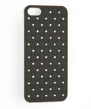 Black Quilted Case for iPhone 5