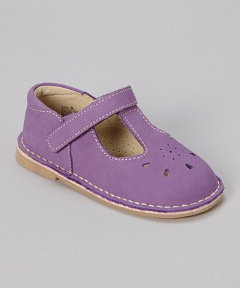 Purple T-Strap Shoe