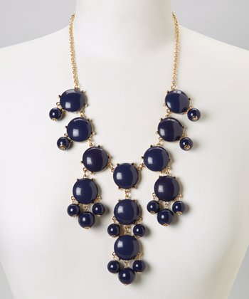 Navy Bubble Necklace
