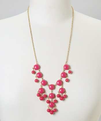 Fuchsia Mini Bubble Necklace