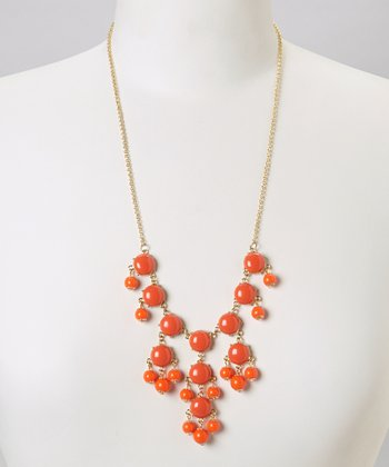 Orange Mini Bubble Necklace